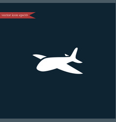 Plane icon simple vector