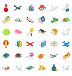 plenty icons set isometric style vector image vector image