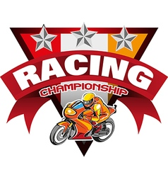 Racing Championship vector image vector image