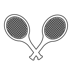 racket tennis sport equipment icon vector image