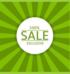 Sale label on green background vector