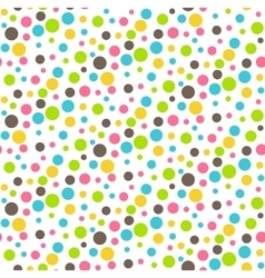 Seamless Bright Abstract Dots Chaos Pattern vector image