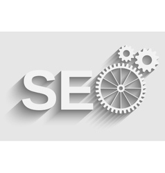 seo tag with gear wheel vector image