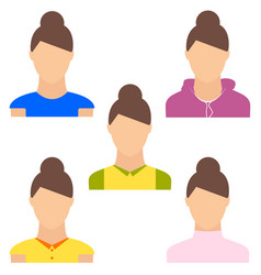 Set of woman portrait various and modern avatar vector