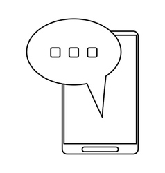 Smartphone bubble speech conversation thin line vector