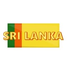 Sri lanka icon cartoon style vector image