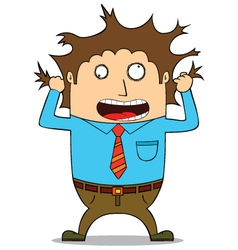 Stressed man vector image vector image