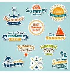 Summer element sticker vector image vector image