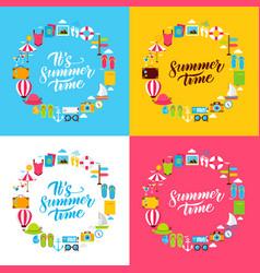 summer flat circles vector image