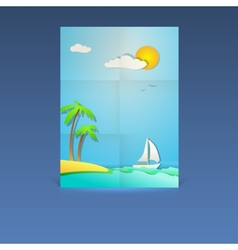 Summer vacation poster vector