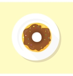 Sweet Donuts Set Design Flat Food vector image vector image