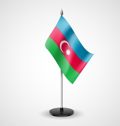 Table flag of azerbaijan vector