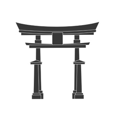Traditional architecture icon japan culture vector