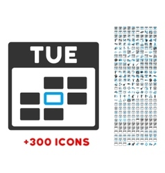 Tuesday Flat Icon vector image