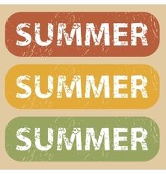 Vintage summer stamp set vector