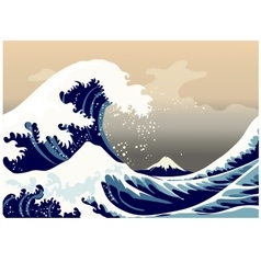 Large frothy waves of the sea vector