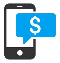 Money Phone SMS Flat Icon vector image