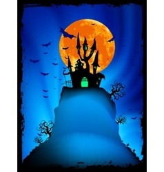 Halloween image with old mansion eps 8 vector