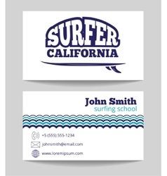 Surf instructor template vector
