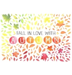 Autumn with motley leaves vector