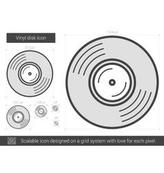Vinyl disk line icon vector