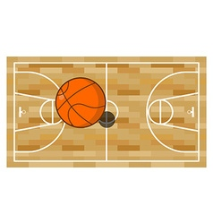 Basketball field and ball game of basketball vector