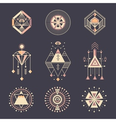 Set of sacred geometry vector