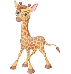 Cute giraffe vector