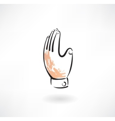 hand grunge icon vector image