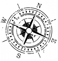 grunge compass vector image