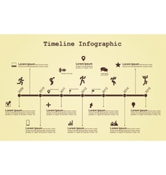 Infographic timeline elements with icons vector