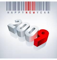 2009 barcode vector image