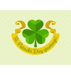 Shamrock symbol for saint vector