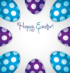 Circle of easter eggs border in format vector