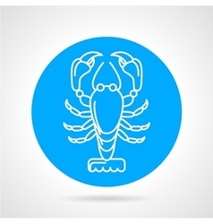 Lobster blue round icon vector