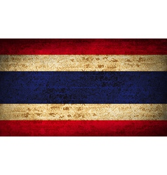 Flags thailand with dirty paper texture vector