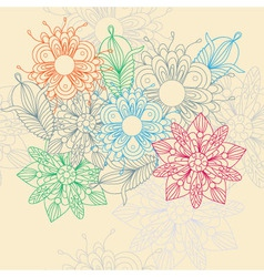 Flower motive vector