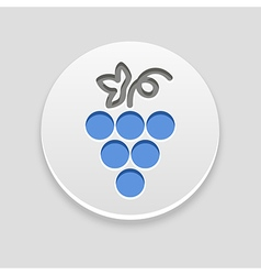 Grapes icon fruit vector