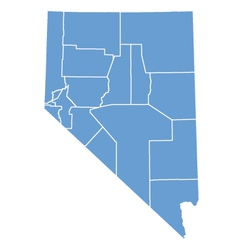 State map of Nevada by counties vector image