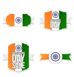 India independence day banners set vector