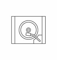 Hdd icon in outline style vector