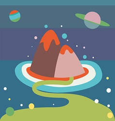 alien landscape vector image vector image