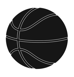 basketballbasketball single icon in black style vector image vector image