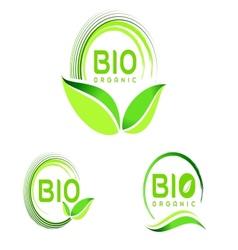 Bio Eco Logo Eco icon design vector image vector image