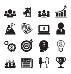 Business concept icon set vector