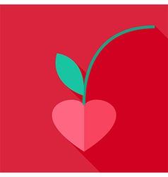 Cherry heart shaped vector
