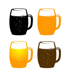 Colorful beer mug vector