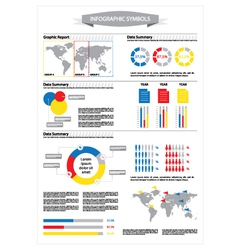Detail info graphic with statistic data vector