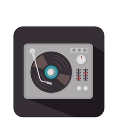 Disk vinyl retro music vector