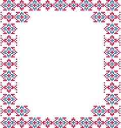 Frame blue pink patterns on canvas vector